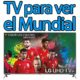 tv para ver el mundial