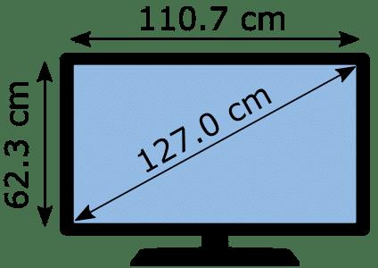 Medidas TV 50 pulgadas